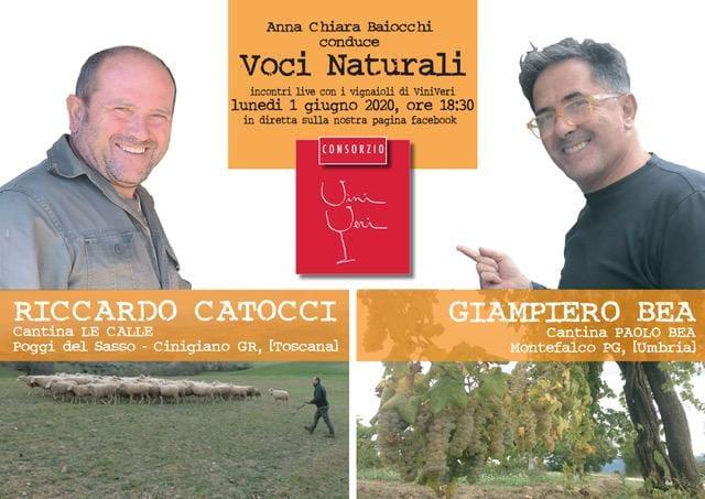 1° giugno 2020 – Vino ma non solo con Riccardo Catocci e Giampiero Bea