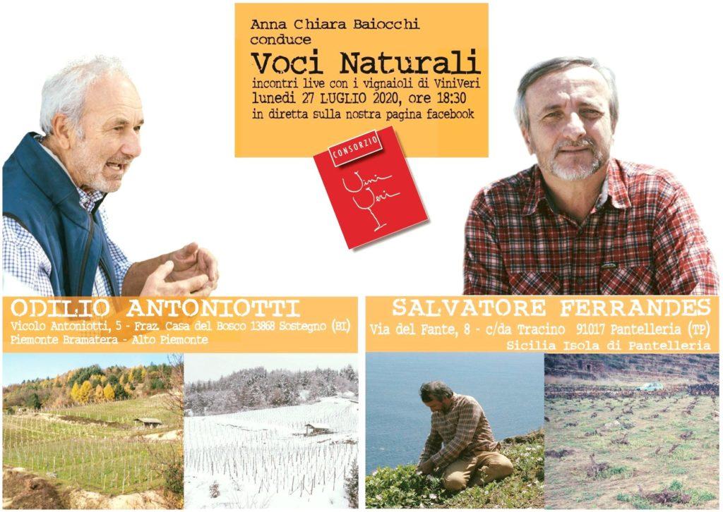27 luglio 2020 – Quinto appuntamento con Voci Naturali – Odilio Antoniotti e Salvatore Ferrandes