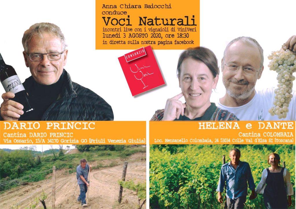 3 agosto 2020 – Sesto appuntamento con Voci Naturali – Dario Princic / Colombaia