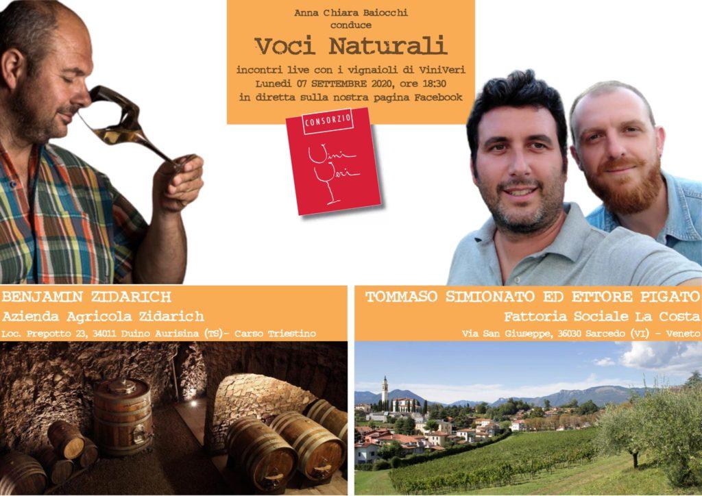 """7 settembre 2020 – 9° appuntamento con Voci Naturali. Zidarich / Fattoria Sociale """"La Costa"""""""
