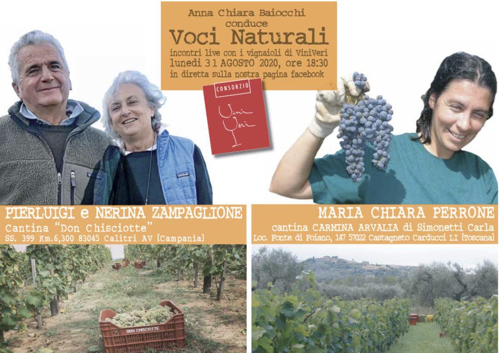 31 agosto 2020 – Ottavo appuntamento con Voci Naturali – Il Don Chisciotte / Carvina Arvalia